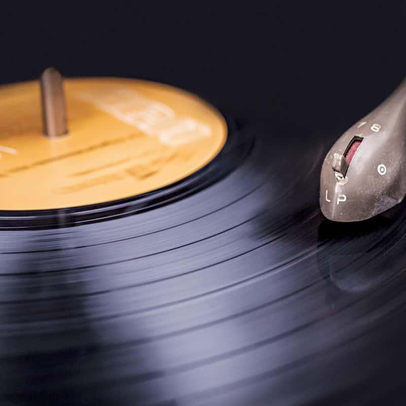 Disque sur tourne disque