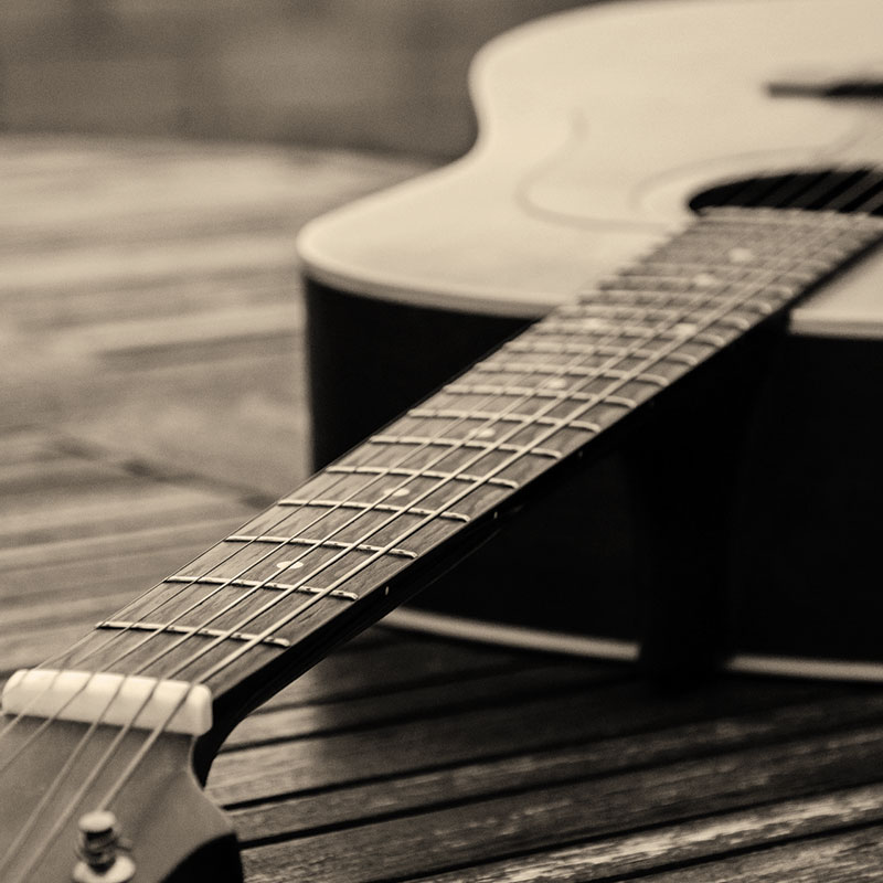 Illustration Top 100 Folk Song - guitare folk