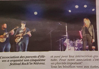 Article de journal suite au ROCK IN NIEVROZ 2018